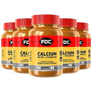 Calcium 600mg + Vitamina D3 - 5 unidades de 90 Comprimidos - FDC