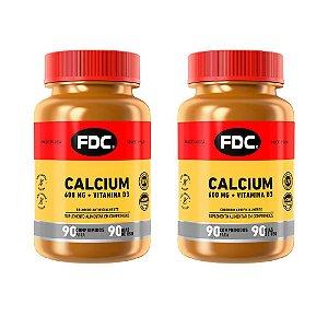 Calcium 600mg + Vitamina D3 - 2 unidades de 90 Comprimidos - FDC