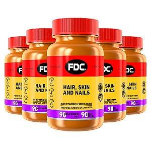 Hair Skin and Nails - 5 unidades de 90 Comprimidos - FDC