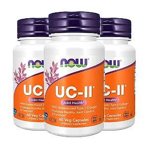 Colageno UC-II - 3 unidades de 60 Cápsulas - Now Foods