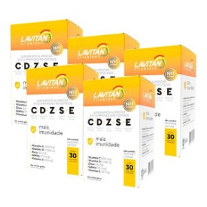 Kit 5 Lavitan Imunidade CDZSE - 30 Comprimidos - Cimed