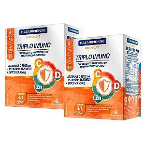 Triplo Imuno - 2 unidades de 30 Comprimidos - Catarinense