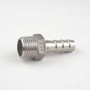 """Espigão 3/8"""" (10 mm) em inox 304 com entrada de 1/2"""" MNPT"""