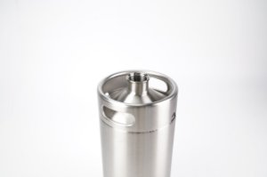 Growler (barril) em inox com capacidade 10L, sem tampa