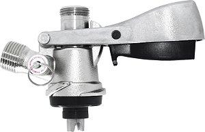 Extratora tipo S, com alça de travamento e válvula de alívio sem espigões