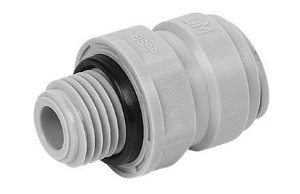 """AMCB0604- Conexão rápida rosca macho 1/4"""" BSP x  tubo 3/8"""""""