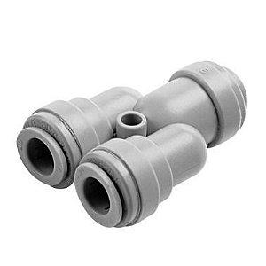 """ATWD0505 - Conexão rápida divisor 2 vias, entrada (1) tubo 5/16 x saídas (2) 5/16"""""""