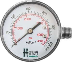 Manômetro de Alta para Reguladoras de N2 Chopp