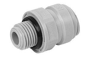 """AMCB0606- Conexão rápida rosca macho 3/8"""" BSP x  tubo 3/8"""""""