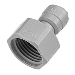 "AFAB0708F - Conexão rápida rosca fêmea 5/8"" BSP x tubo 1/2"""