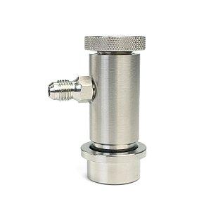 "Conector Ball Lock Liquido - Rosca 7/16"" - com controle de fluxo"