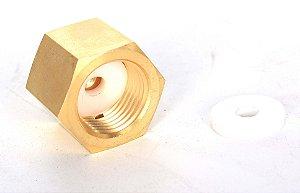 "Reducao CGA320 femea para Mini Reguladoras 3/8""-24UNF"