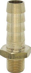 """Espigão 1/4"""" com entrada rosca macho M8X0,75 - latão - N"""