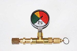 Manometro para aferição da pressão de saida em reguladoras CO2
