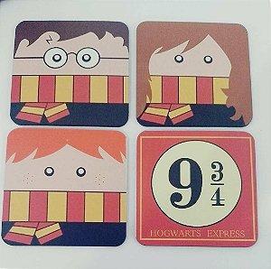 4 quadrinhos decorativos HP - MDF