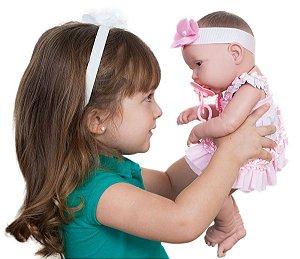 Boneca Baby Ninos Cotiplas Recém Nascido com Certidão - Cotiplás
