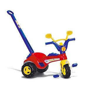 Triciclo Infantil Policial Cotiplas com Porta Treco e Buzina