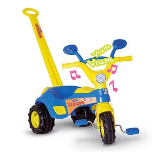 Triciclo Infantil Azul Blue Music Cotiplás com Som