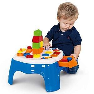 Brinquedo Didático Azul Mesa de Atividades Play Time - Cotiplás