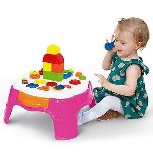 Brinquedo Didático Rosa Mesa de Atividades Play Time - Cotiplás