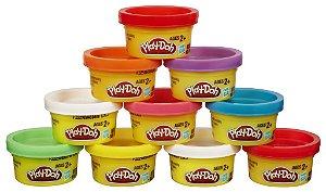 Play Doh Embalagem Com 10 Mini Potes - Hasbro