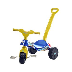 Triciclo Infantil Com Empurrador Smile Policial - Biemme