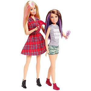 Barbie & Skipper Sisters Família Dupla De Irmãs - Mattel