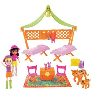 Polly Pocket Safari Festa do Pijama - Mattel
