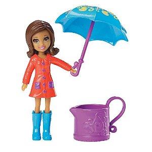Boneca Polly Pocket Chuva E Sol Shani - Mattel