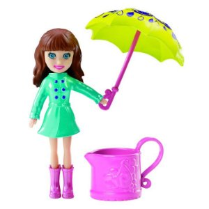Boneca Polly Pocket Chuva E Sol Lila - Mattel