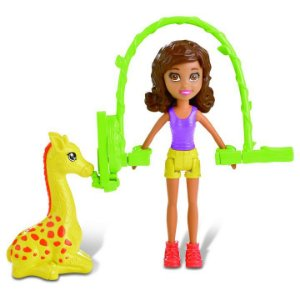 Boneca Polly Pocket Safari Salto De Corda Shani - Mattel