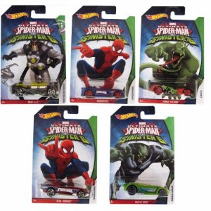 Kit 5 Carros Hot Wheels Ultimate Spider Man Vs Sinister 6 - Mattel