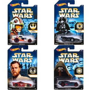 Kit 4 Carros Hot Wheels Star Wars The Force Awakens - Mattel