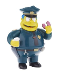 The Simpsons Chefe Wiggum Talking Figure 25 Years Multikids