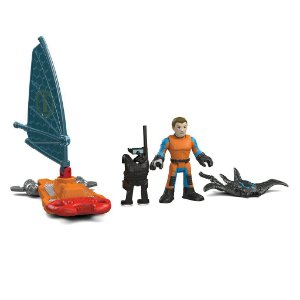 Imaginext Agente de Resgate Windsurf Oceano - Mattel - Fisher Price