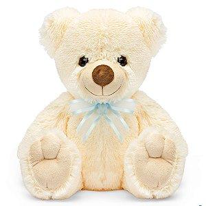 Urso de Pelúcia Charmoso Bege 30cm