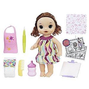 Baby Alive Pequena Artista Morena - Hasbro