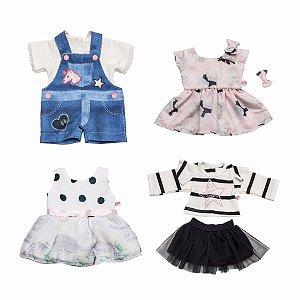 Kit 4 Roupas De Boneca Roupinha American Girl Our Generation Julia Silva