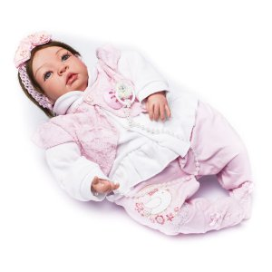 Boneca Bebê Reborn Liz com Roupinha Rosa
