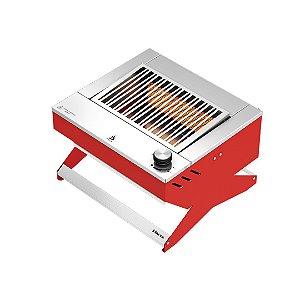 Churrasqueira a gás portátil DXX 200 ON TOP - Vermelha - DINOXX - Gás Natural