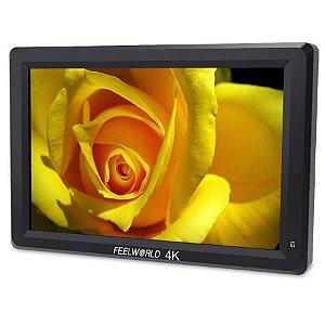 "Monitor de Alumínio Para Câmeras FeelWorld T7 7"" IPS 4K HDMI"