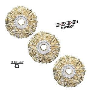 Kit Refil 01 Ano 150 Gramas 350 mm Mop Inox 2º Geração Duplo Estágio Padrão USA Linha Top Premium Shoppstore®