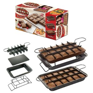 Forma de Brownie com 15 Separadores Anti Aderente Desmontável Perfect Brownie®