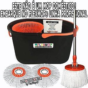 Spin and Go Mop 360 Linha Pró (Profissional) Promo 02 unid. Refil 150 gr Padrão USA Marca: FlexMop®