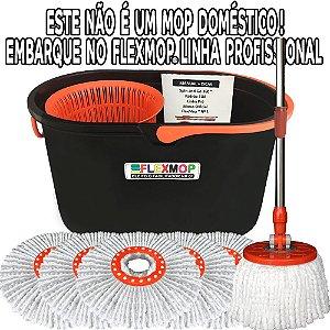 Spin and Go Mop Profissional (Linha Pró) MegaPromo Refil Nano p/02Anos Padrão USA Official FlexMop®