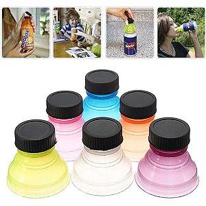 Kit 06 Tampas para Latas de Bebidas, Adaptador que Veda e Higieniza Latas Can Convert® Multicolores