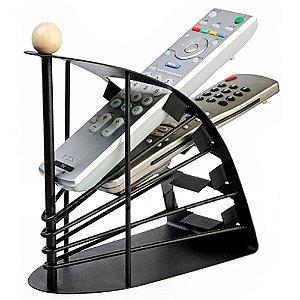 Organizador de Controles Remoto Corpo 100% Metal - Organizer Remote Control® Preto