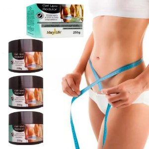Kit 03 unidades Gel Lipo Redutor Mary Life® Original