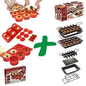 Combo Forma de Brownie Perfect Brownie® + CupCake Secret® Forma de Silicone