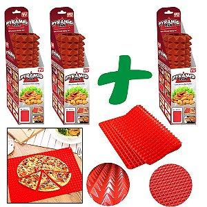 Pague 2 Leve 3 Forma de Silicone Original Pyramid Pan© Silicone Cooking - Vermelha